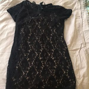 Loft size 6 black lace dress